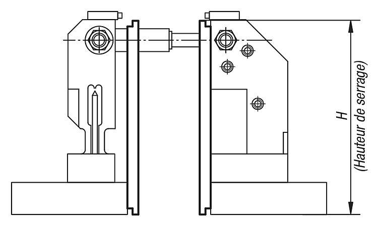 Cales d'appui - Étau de bridage 5 axes