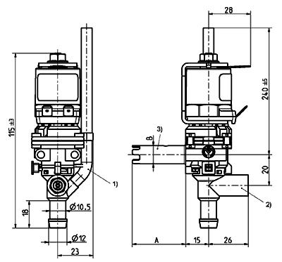 Dispense valve, DN 8 - 46.008.114