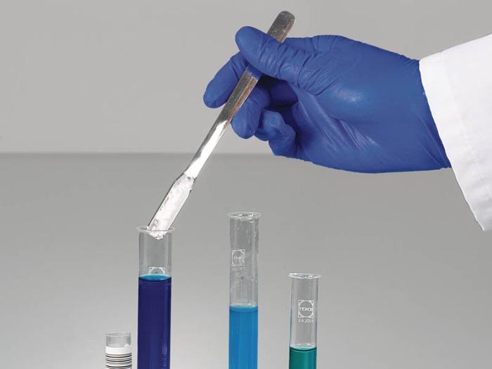 Micro-espátula de acero inoxidable - Muestreador, equipo de laboratorio, 170 mm de longitud