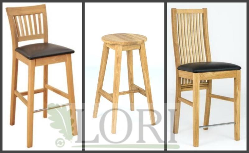 OAK BAR CHAIRS / STOOLS - Massive bar oak furniture  from producer