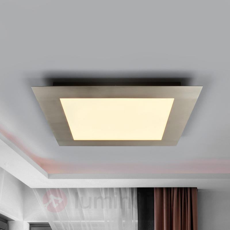 Deno - panneau LED de grande qualité, nickel mat - Plafonniers LED