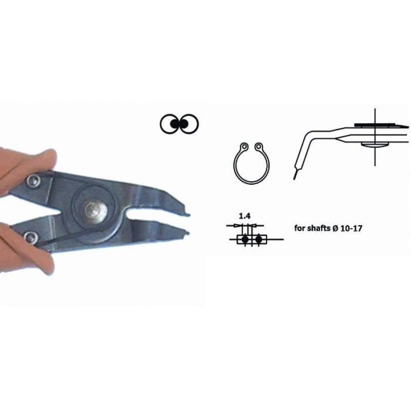 Seeger ring pliers, 90° angled nose, ESD - Seeger-ring