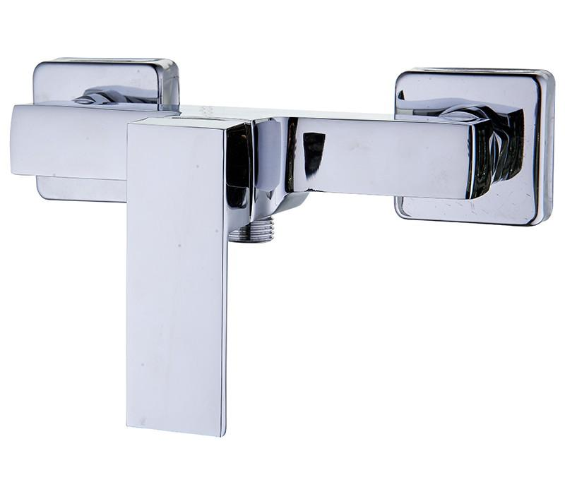 Square Shower Mixer Tap - Chrome - In stock