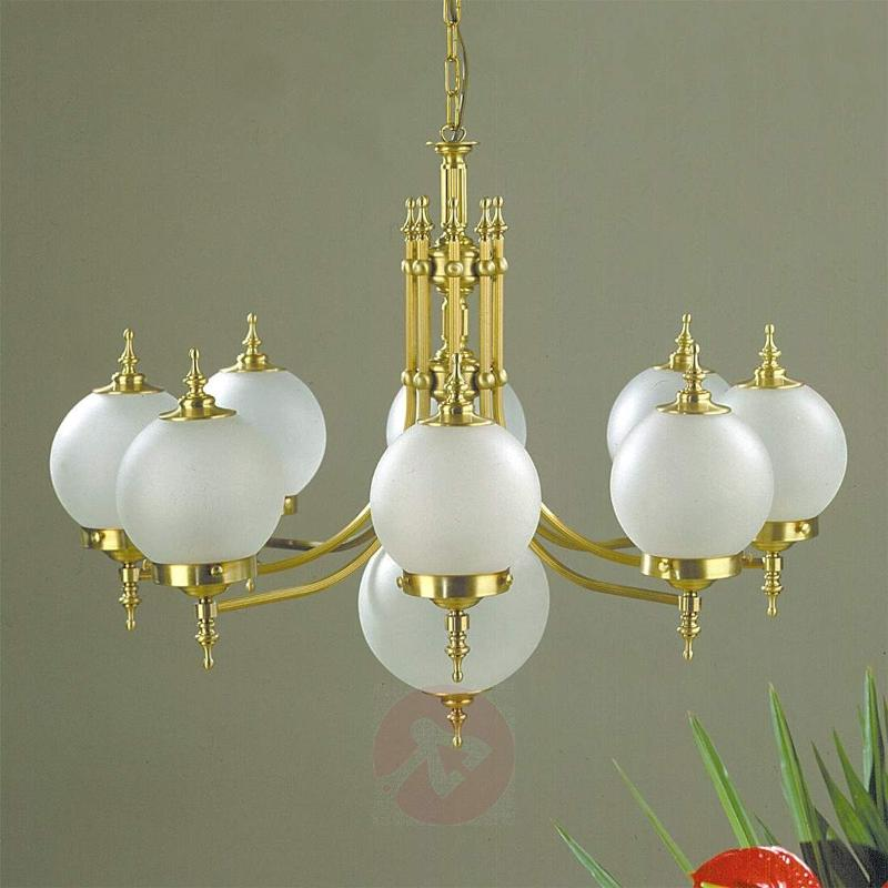 Objekt Hanging Light Nine Bulbs Bronze - Chandeliers