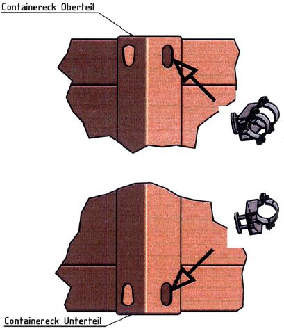 Container-Fahnenmasthalterung CH2 - null