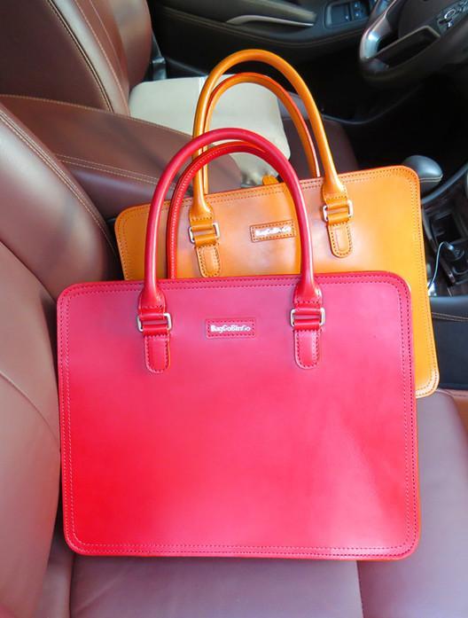 Burgundy Leather Handbag,Burgundy Briefcase - Custom men's bag,leather case,business messenger bag
