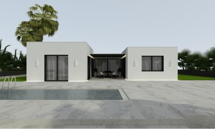 Casa Prefabricada en madera de una planta - Modelo TKMCS-201