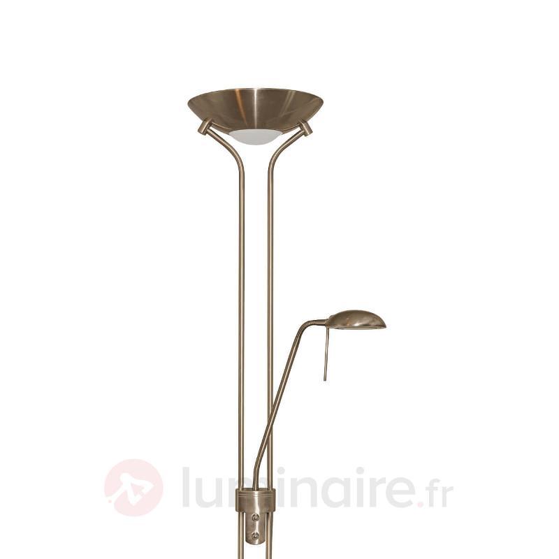 Lampadaire JERIK avec variateur et liseuse - Lampadaires à éclairage indirect