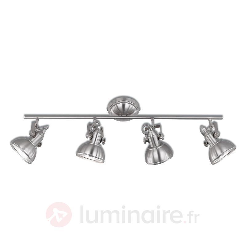 Gina - plafonnier à 4 lampes au design industriel - Plafonniers chromés/nickel/inox