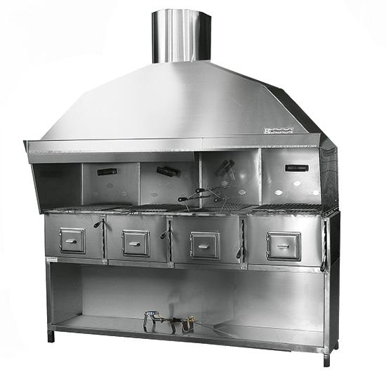 Add-on cooking appliances - Charcoal grill with 4 burning zones - USED