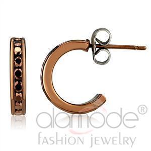Fashion Earrings - IP Coffee light Top Grade Crystal Earrings