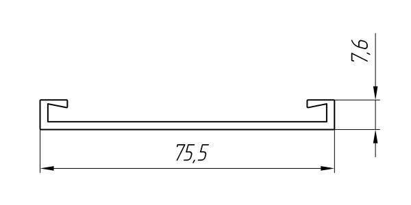 Aluminum Profile For Ventilated Facades Ат-3042 - Construction aluminum profile