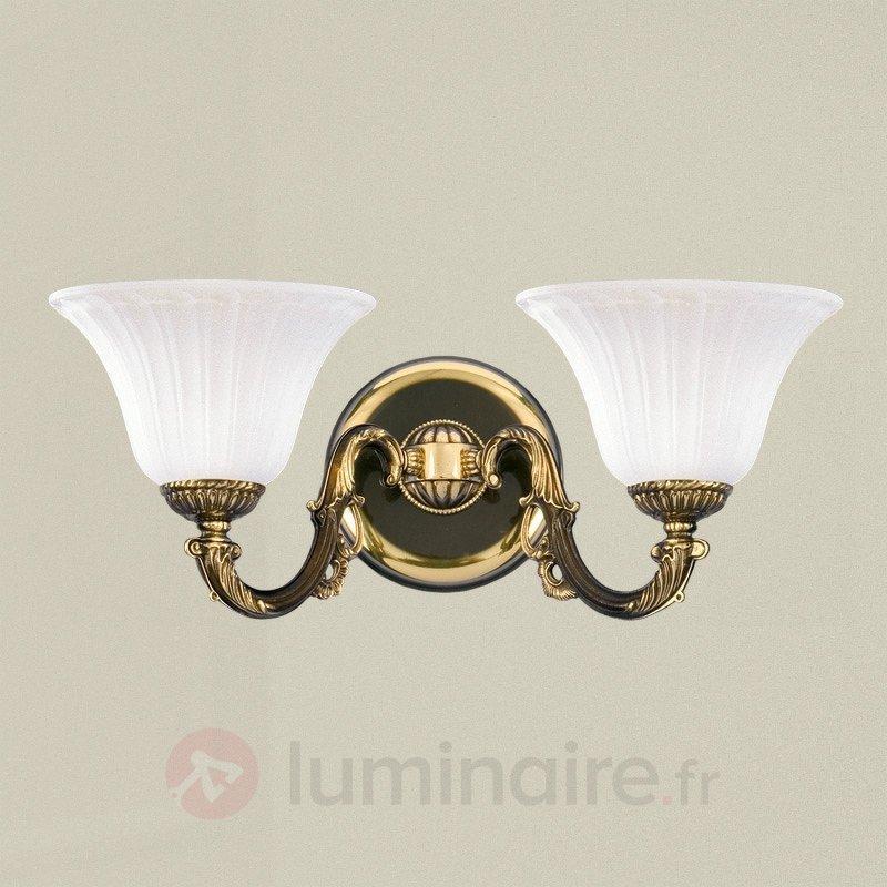 Alcantara - une applique noble à deux lampes - Appliques classiques, antiques
