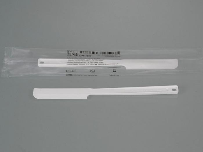 Couteau à palette pour échantillon blanc, jetable - Appareils de prélèvement d'échantillons, appareils de laboratoire