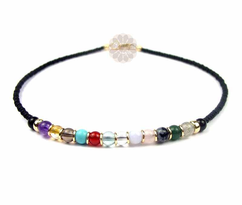 Multicolor Bead Anklet -