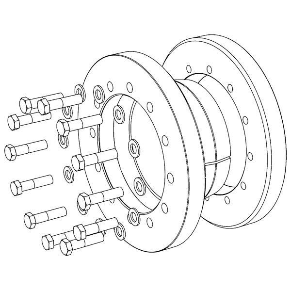 TAS-3071 Half/Split - Shrink Discs 3-part