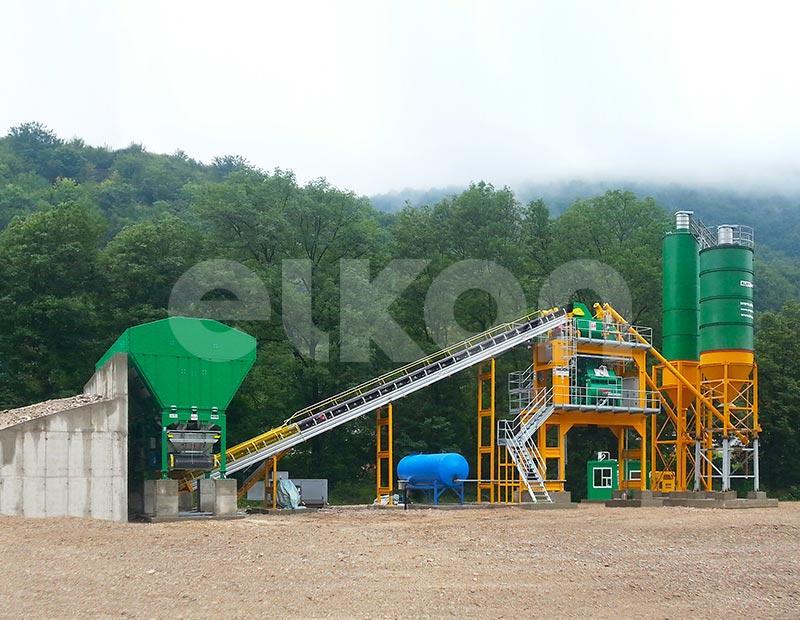 Elkomix-120 - STATIONARY CONCRETE BATCHING PLANTS