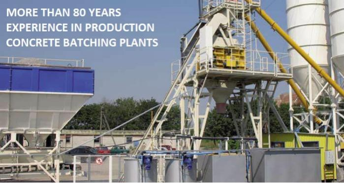 Concrete Batching Plants - Capacity from 16 till 80 cub. m./h