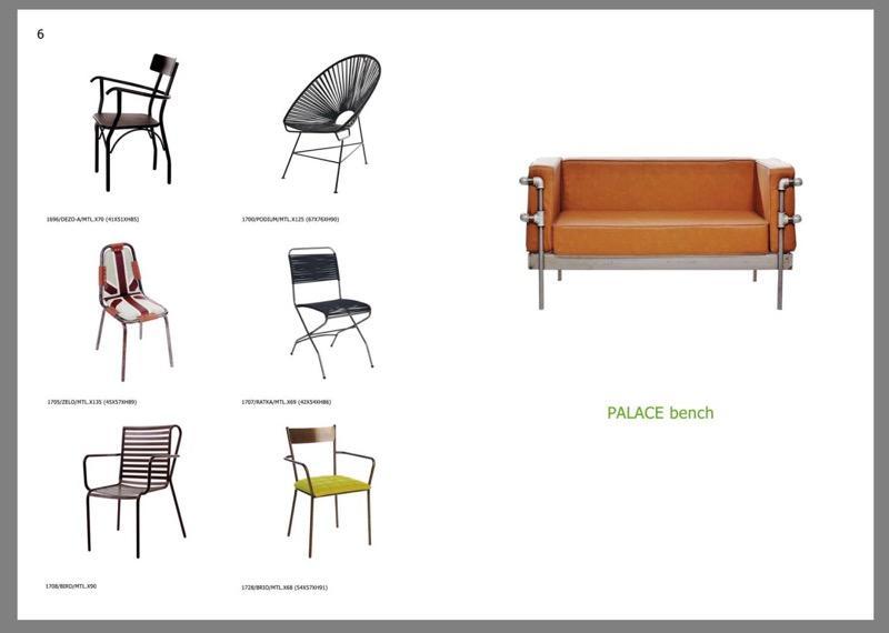 """Κατάλογος """"Μέταλλο"""" - Καρέκλες αλουμινίου και μεταλλικές επεξεργασμένες με ηλεκτροστατικές βαφές."""