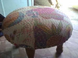 Kantha Stool Puff -