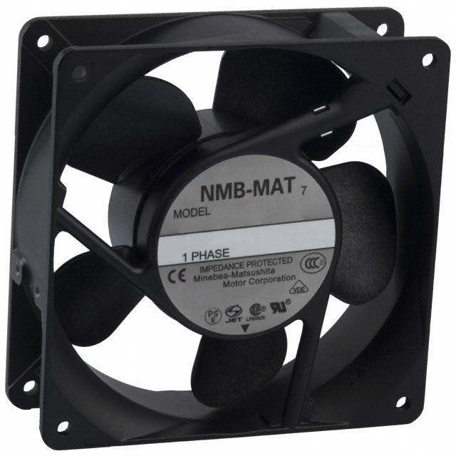 FAN AXIAL 119X38MM 115VAC TERM - NMB Technologies Corporation 4715MS-12T-B40-A00