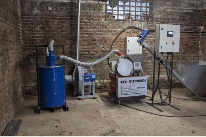 Роторно-сдвиговая мельница МКР-300 - Некриогенное измельчение резины