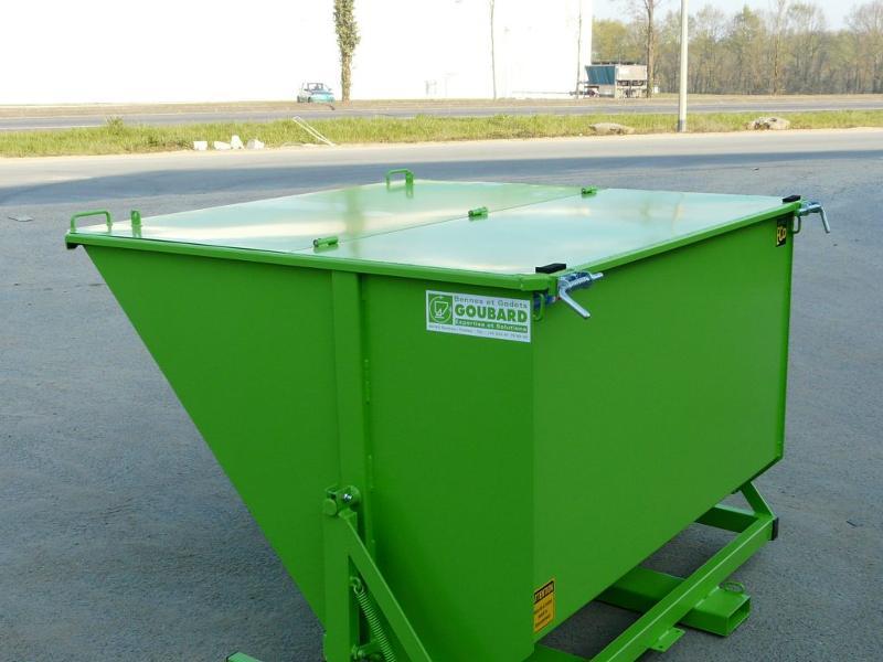 Benne basculante éco – charge 1000 kg - Bennes basculantes