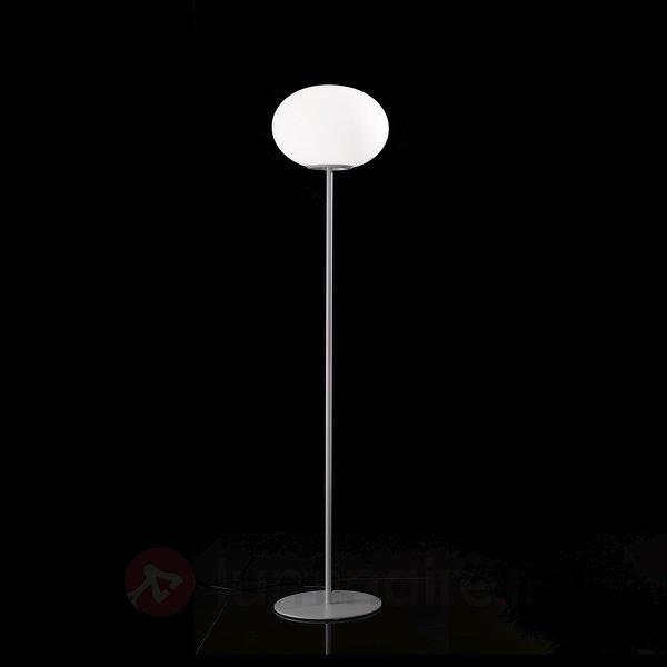Lampadaire Alice avec abat-jour sphérique en verre - Lampadaires design