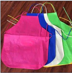 Disposable non woven apron - Color: blue, white  Material: PP nonwoven fabrics Size: 87*70cm etc