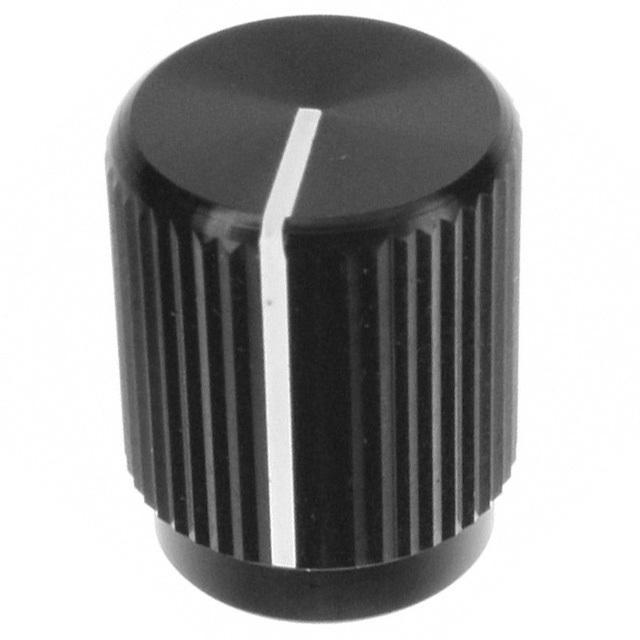 "SWITCH KNOB STRAIGHT .50"" BLACK - TE Connectivity ALCOSWITCH Switches KLN500B1/8"