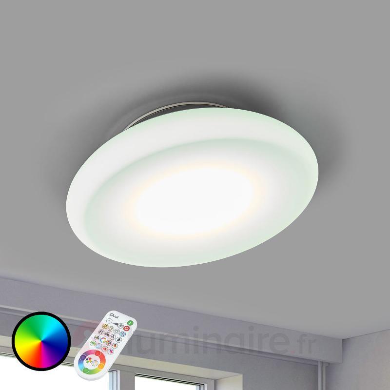 Plafonnier LED Volta Chrome, entièrement ajustable - null
