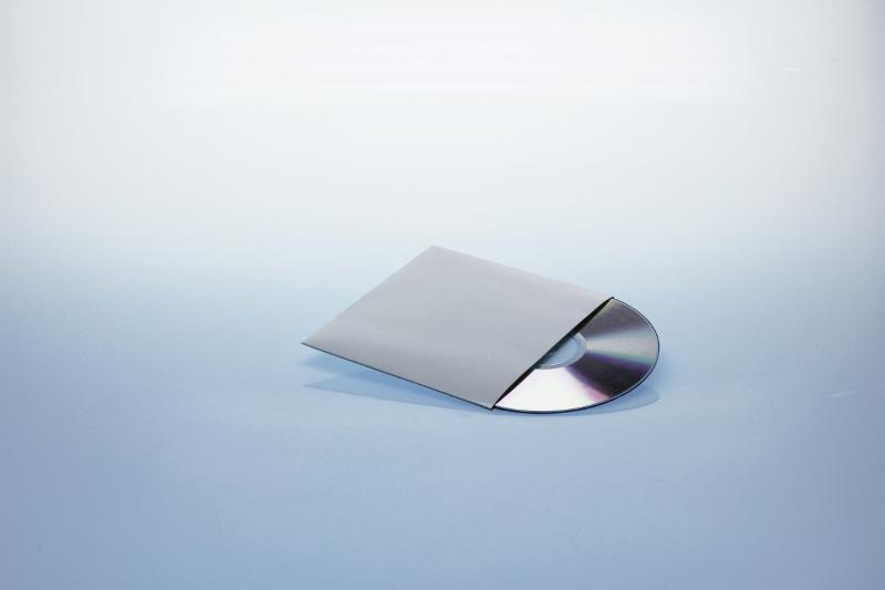 Kartonstecktasche für 1 Disc - weiß - unbedruckt - Papierstecktaschen