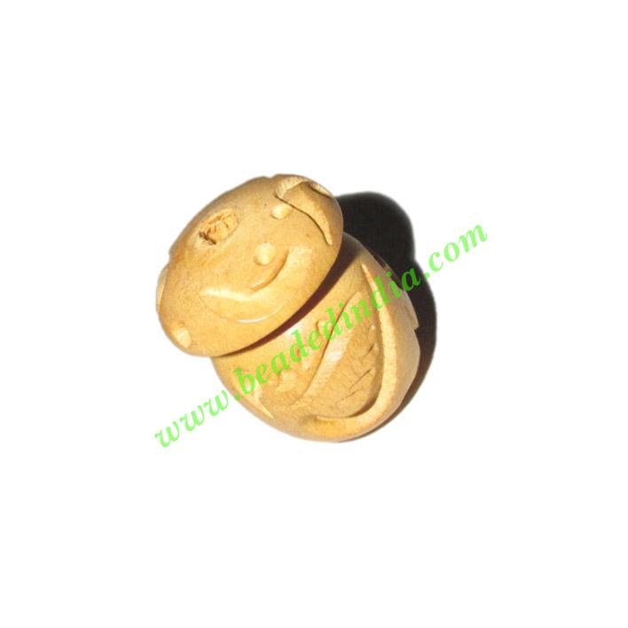Natural Color Wooden Beads, size 17x23mm, weight approx 2.69 - Natural Color Wooden Beads, size 17x23mm, weight approx 2.69 grams