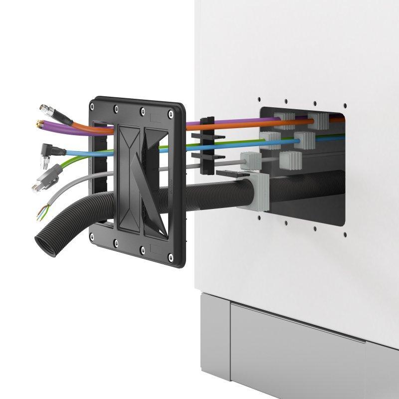 KDS-FP Placas marco - KDSClick, el sistema de paso de cables de CONTA-CLIP