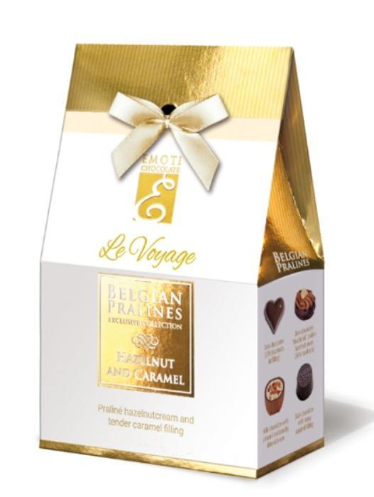 EMOTI Hazelnut & Caramel, Gift Bag 81g (bow decorated). SKU: -