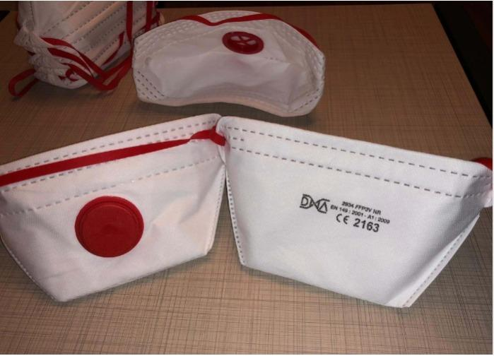 FFP3 R D Halbmaske, N95 (BFE ≥ 95%), mit Ventil - hergestellt in der Türkei