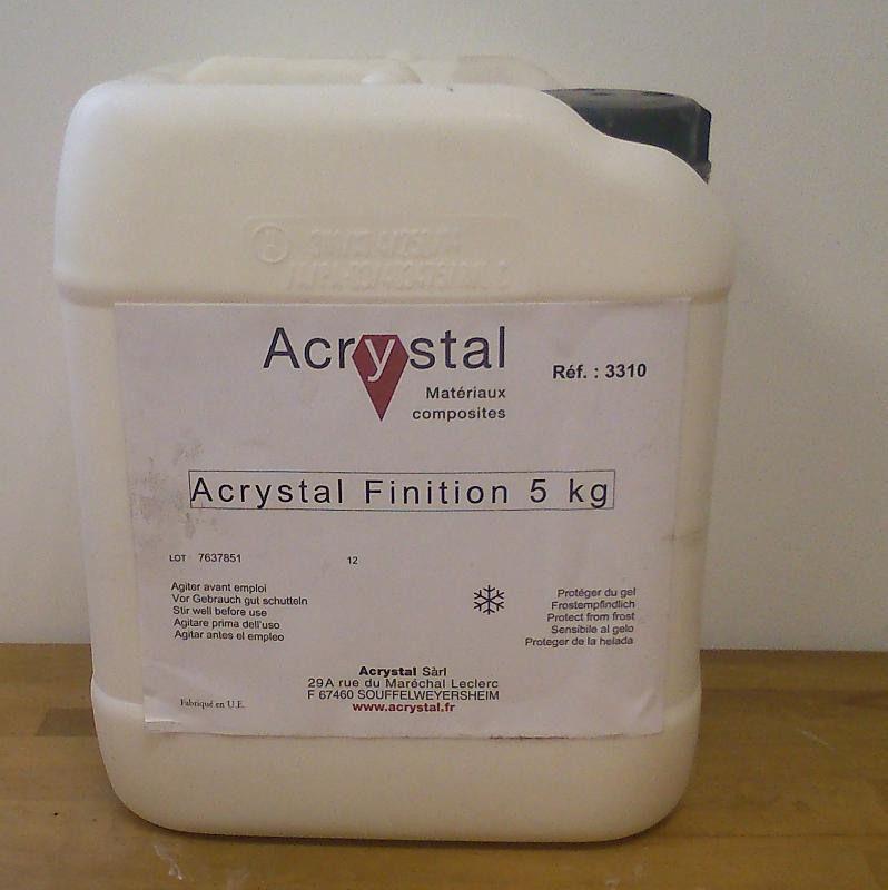 resines Acrystal poudres et liquides - ACRYSTAL FINITION EXTERIEUR 5K