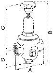 Pressure regulator DRV 250, Low pressure design, G... - DRV 250 pressure regulator, low-pressure type