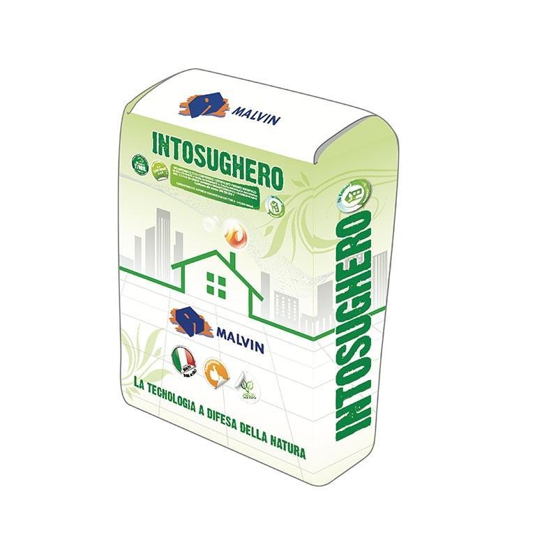 Bio plaster eco-compatible for biobuilding Intosughero - Compliant with UNI EN 998-1
