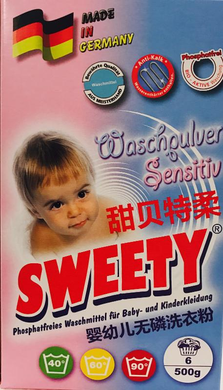 SWEETY Waschpulver Sensitive 500 gr. - Reinigung - Pflege