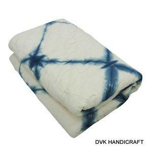 hand dyed cotton kantha quilt, tie-dye shibori kantha quilt -