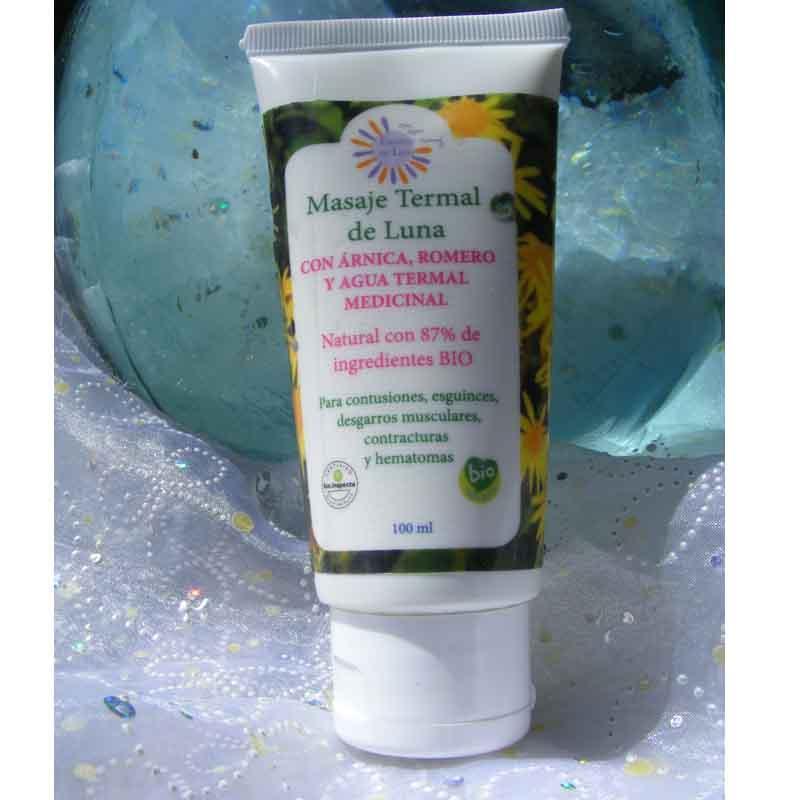 Masaje con agua termal, aceite de oliva, arnica y romero - Efecto analgésico y anti-inflamatorio para derrames, esguinces y contusiones