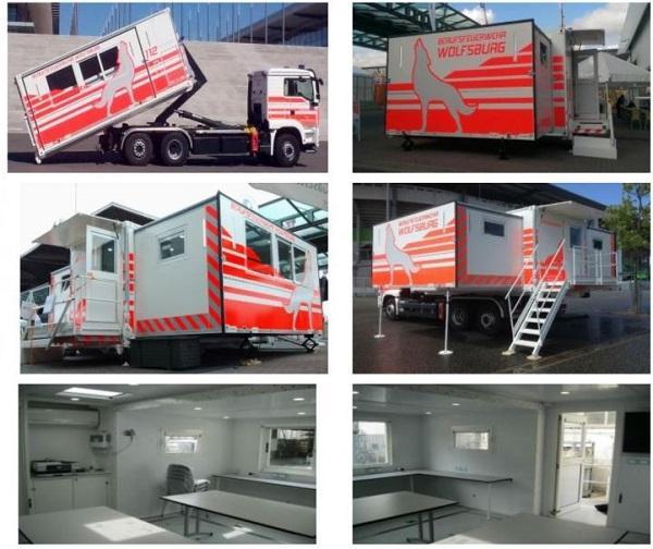 ELZ - mobile Einsatzleitzentrale  - Multifunktionaler Abrollbehälter
