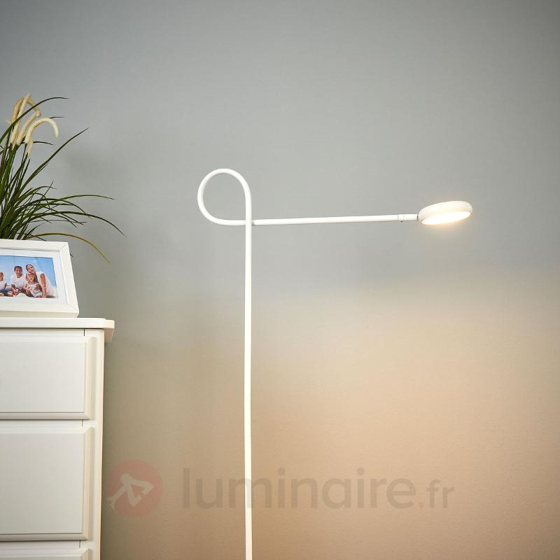 Lampadaire LED Cloude White avec tête rotative - Lampadaires LED