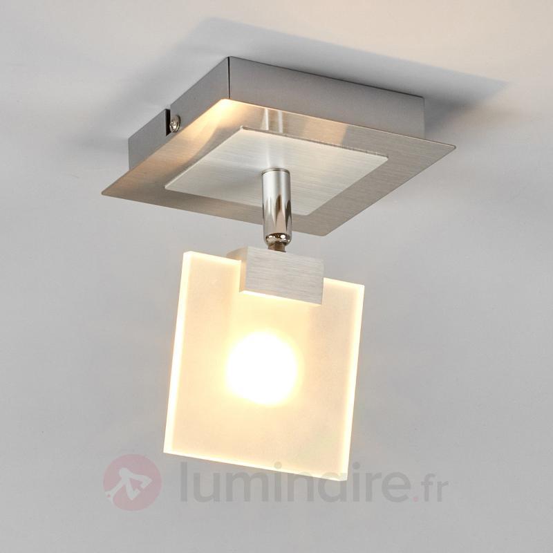 Spot LED moderne Livius avec plaque de verre - Plafonniers LED