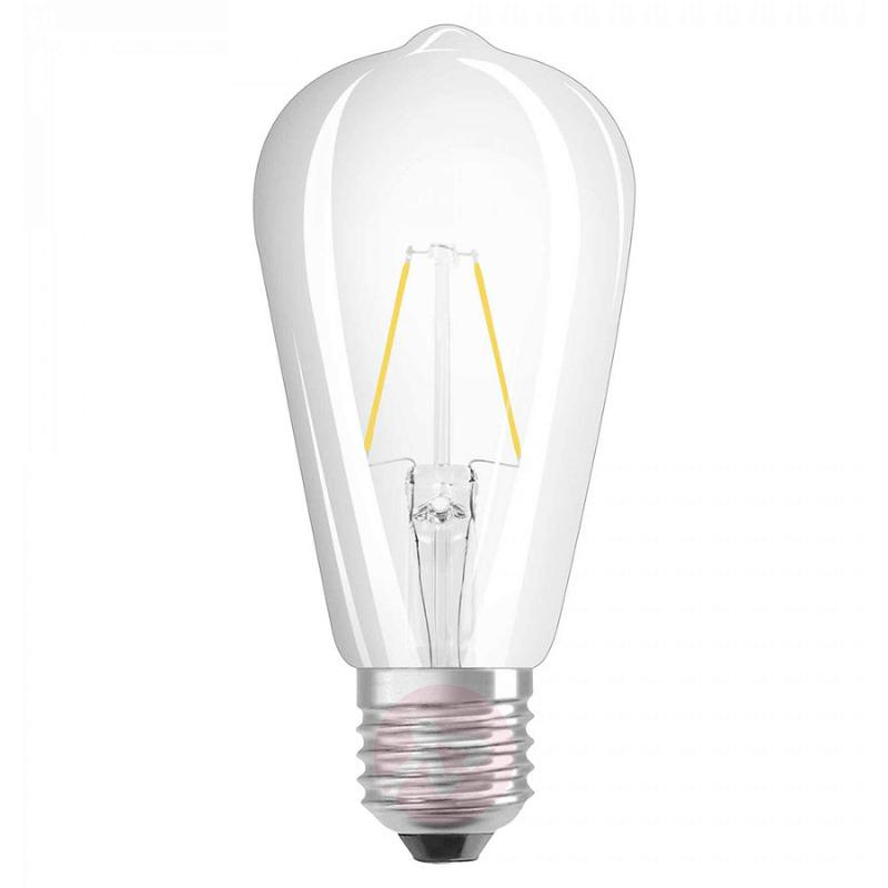 E27 2 W 827 retrofit LED rustic bulb clear - light-bulbs