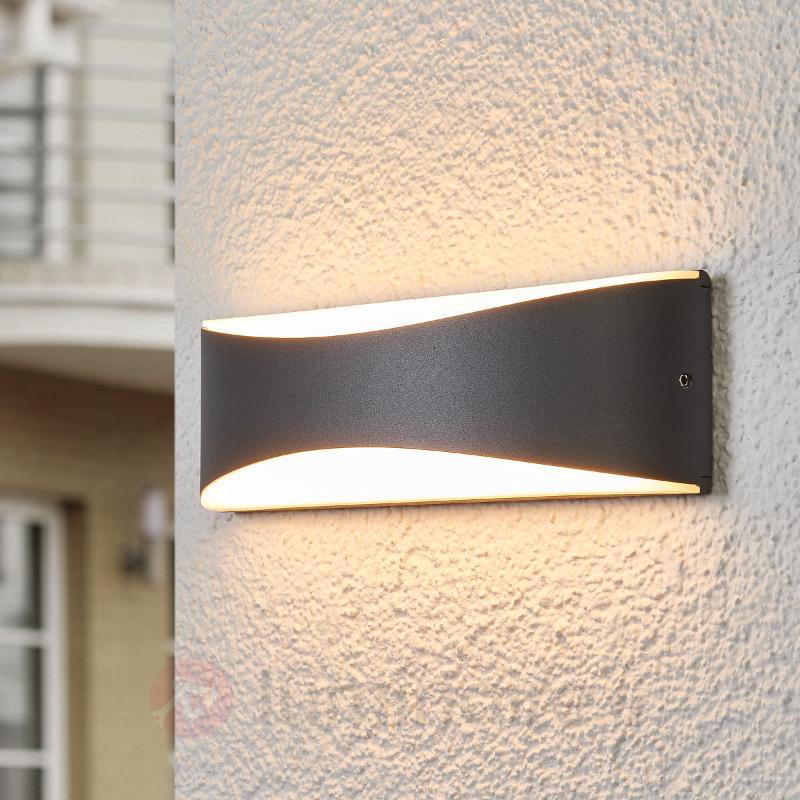 Applique d'extérieur LED Akira, couleur anthracite - Appliques d'extérieur LED