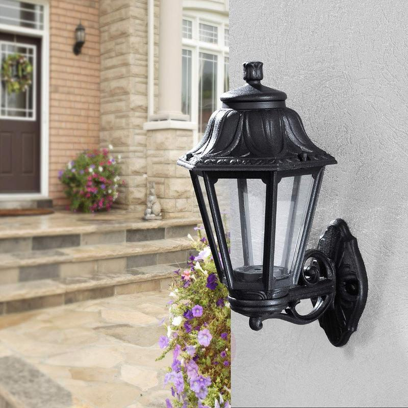 Lantern top - LED outdoor wall light Bisso Anna - Outdoor Wall Lights