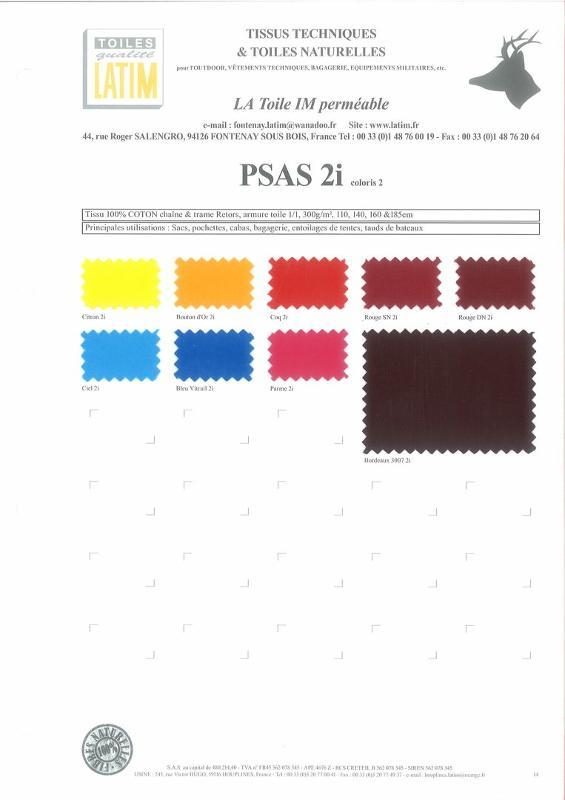PSAS 2i coloris 2 - Toiles naturelles