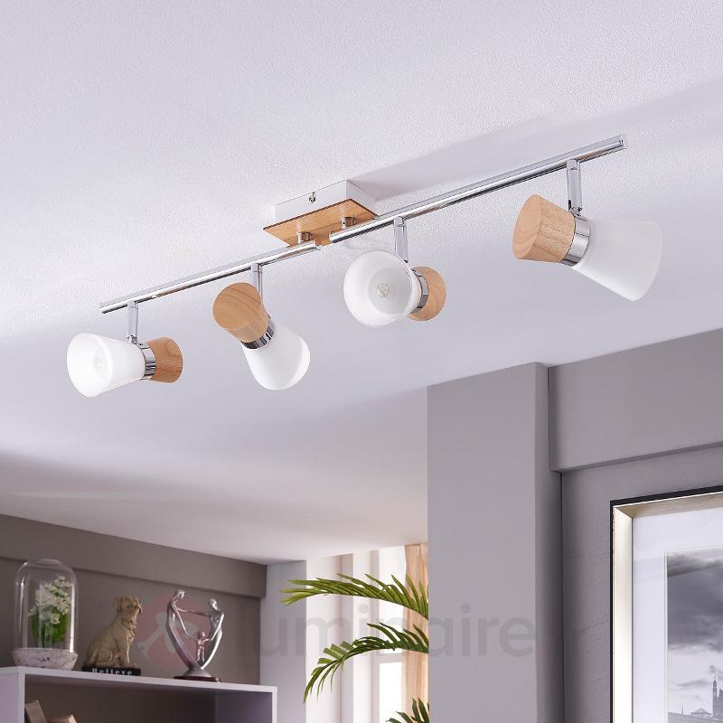 Plafonnier en bois à 4 lampes Vivica - Plafonniers en bois